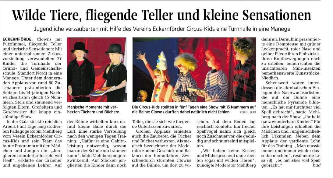 Kieler Nachrichten vom 24.10.2016