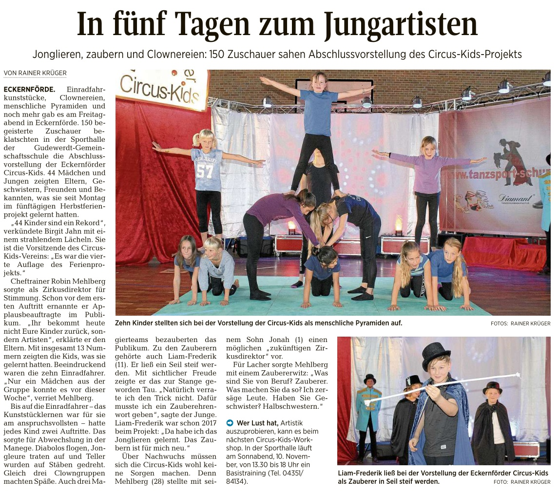Kieler Nachrichten vom 22.10.2018